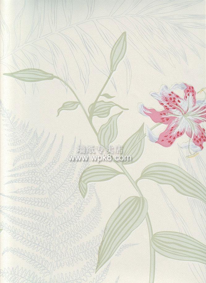 墙纸系列图片80701空中花园城市装修壁纸图片,淡绿色的底清新伊人的