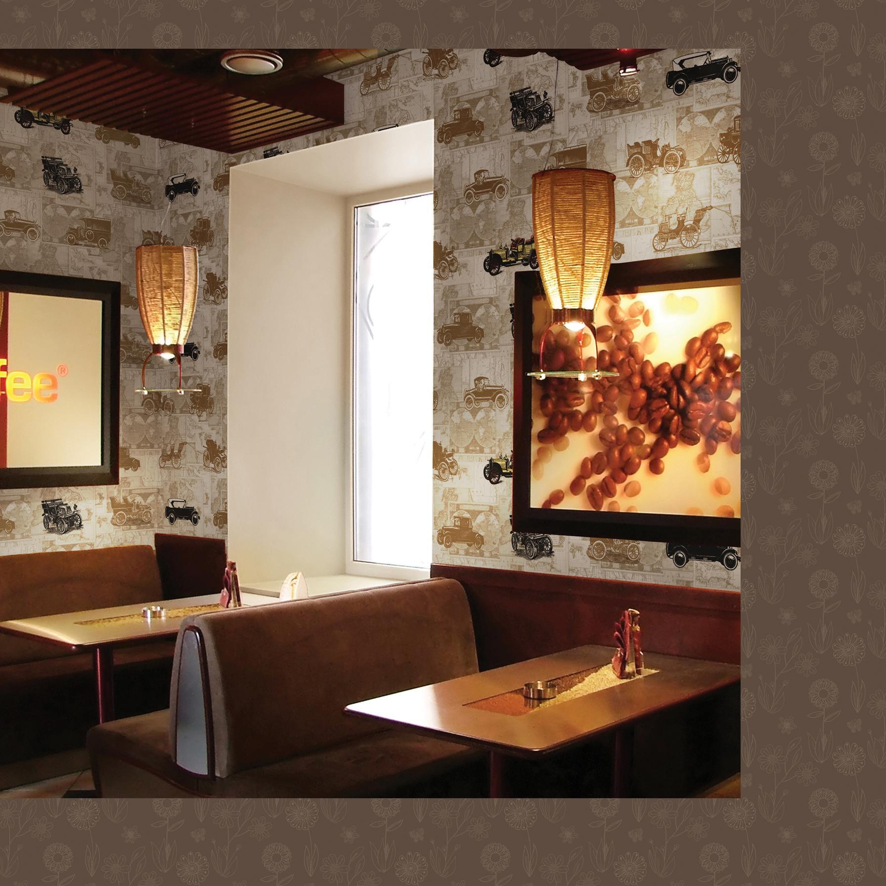 靓丽时尚的客厅墙纸效果展示