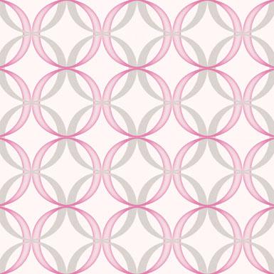 粉色圆圈墙纸ART81352