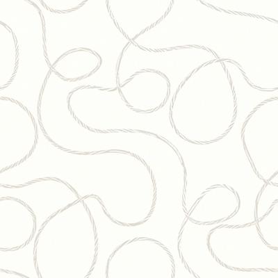 白色线条曲线墙纸SENLM2301
