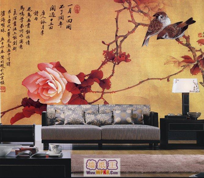 2015年中式风格背景墙壁画(上)(3)图片