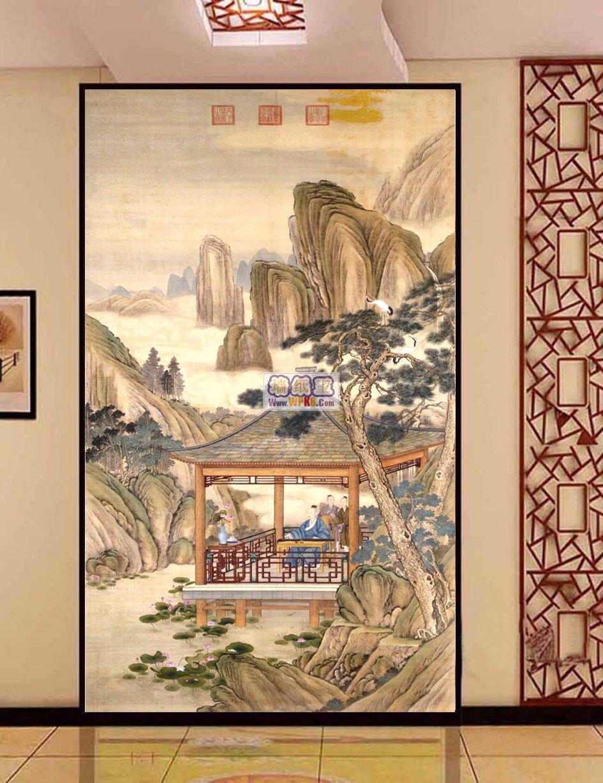 2015年中式风格背景墙壁画(上)(9)图片