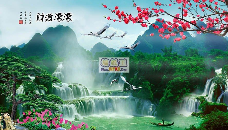 上海壁画厂推荐XS380现代风景墙壁画38061