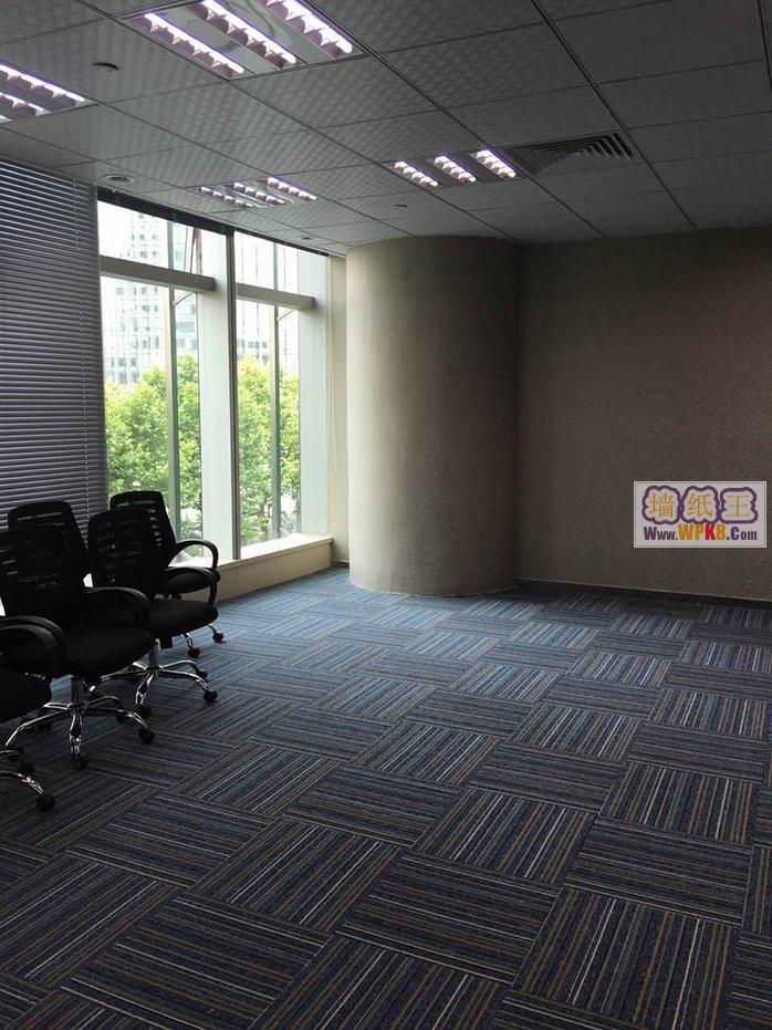 上海浦东陆家嘴未来资产大厦办公室装修用无缝墙纸1