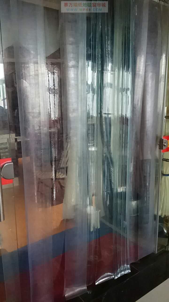 上海青浦九星市场2幢2楼201号批发专卖各种透明软门帘02