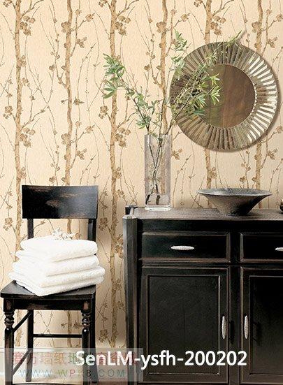 森林木凤凰系列中式壁纸,背景墙,适合很多地方使用小清新